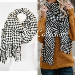 ef547b5e3 Accessories | Oversized Tassel Houndstooth Blanket Scarf Wrap | Poshmark